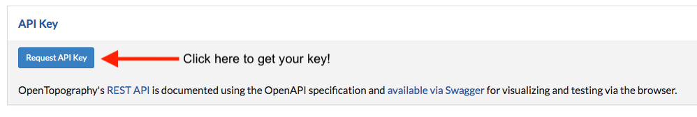 Request API key Button